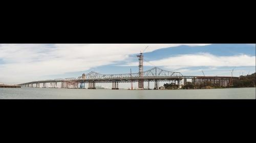 Bay Bridge Eastern Span construction from Treasure Island