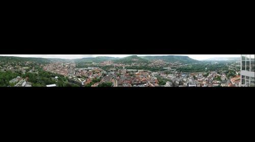 Stadt Jena, vom JenTower aus