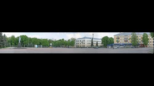 Pryluky. Central square.