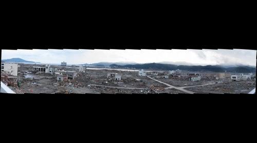 Giant Tsunami disester in Rikuzen-Takada