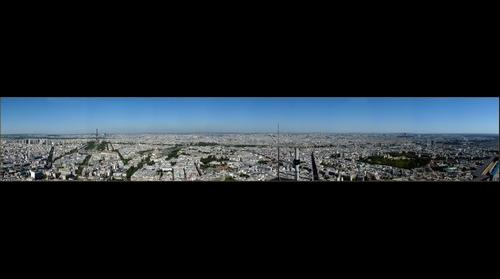 D/ France Paris-Panorama from montparnasse tower
