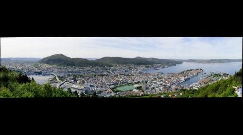 Bergen seen from Floyen