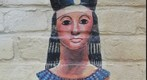 King Tut in Little Egypt - Painting on a wall by the Little Egypt Art Association