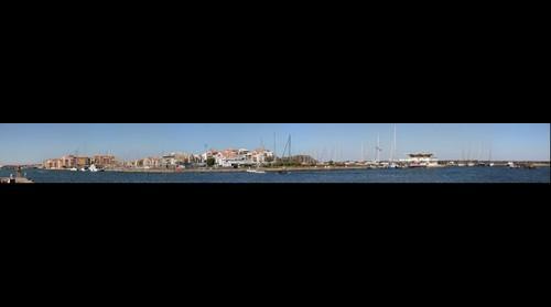 Cap d'agde France de l'iles des loisir l'avant Port et ces commerces