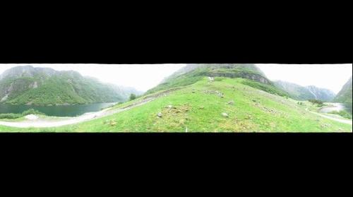 360 Blick von Bakka in der Naerofjord