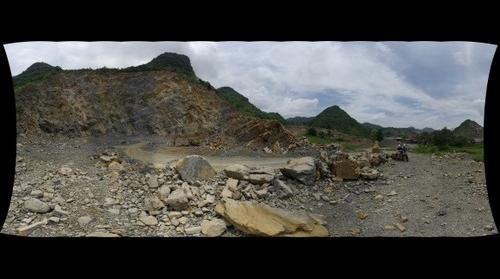 Vietnam - Cement kiln quarry View 1
