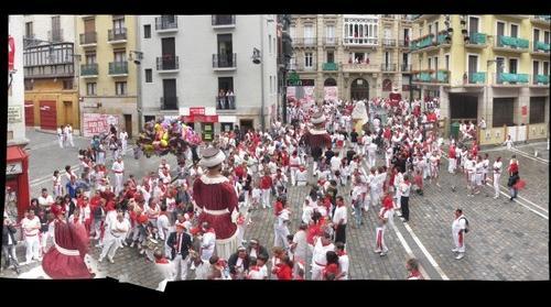 Procesion Sanfermin 2011. Gigantes