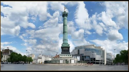 G/ Paris, Place de la Bastille from Dvd-Rom 9 giga
