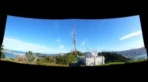 Wide Panorama at the Top of Mount Victoria