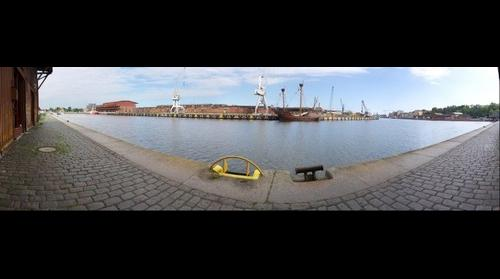 Luebeck Harbor with Kravelle