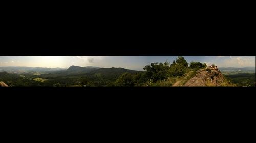 Panorama 360 degrees from Maly Gric
