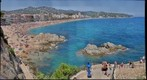Lloret de Mar Spain Beach view on a sunny summer day in July