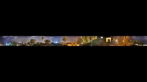 View of Tel Aviv at night from Jaffa, Israel