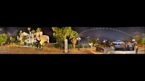 Jaffa square at night, Israel