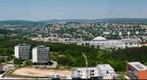 View from the roof of The Faculty Hospital Brno-Bohunice (Brno, Czech Republic ) North direction