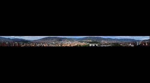 Vista desde el barrio Laureles, Medellín, Antioquia, Colombia, Suramérica.