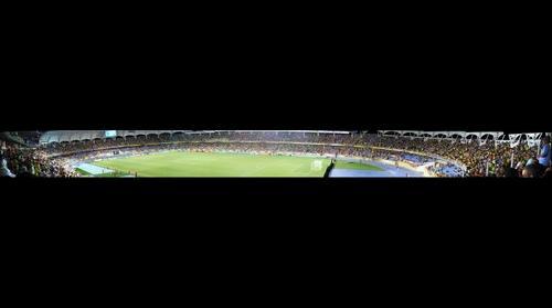 panoramica estadio pascual guerrero de santiago de cali para el mundial de la FIFA SUB-20 en al noche
