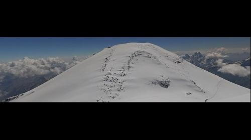 to the East summit of Elbrus taken from the slopes to the twin top in the south