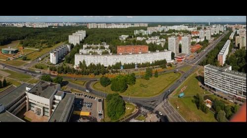 Вид на Центральный проспект с крыши Бизнес-центра
