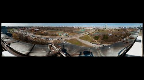 Вид на Центральнную площадь, парк Победы и МИЭТ
