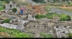 View of Srikalahasti Temple and surrounding areas.