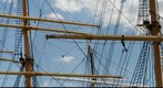 Ships&#39; Masts at at South Street Seaport, New York City