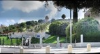 The Bahai Gardens in Haifa from an angle