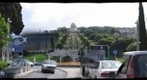 Bahai gardens with cars