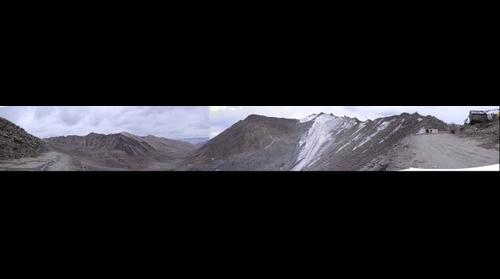 Panoramic View from Khardung La(highest motrable road in world)