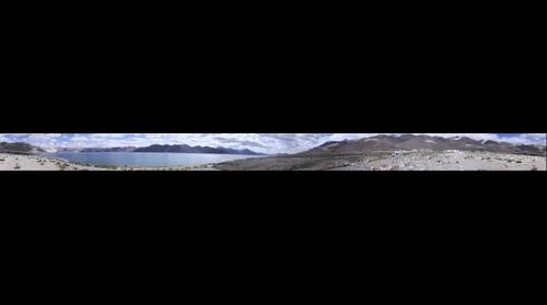 Panoramic View Pangong Tso in the morning
