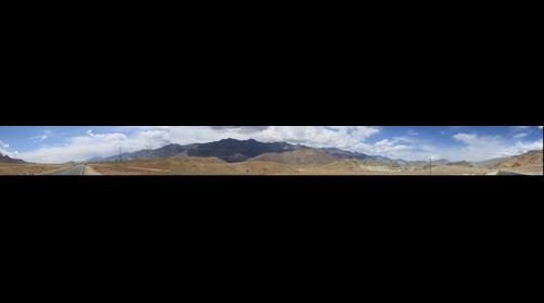 Panoramic View On way Leh Kargil Near Khaltse