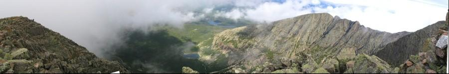 View from the summit of Mount Katahdin, Maine