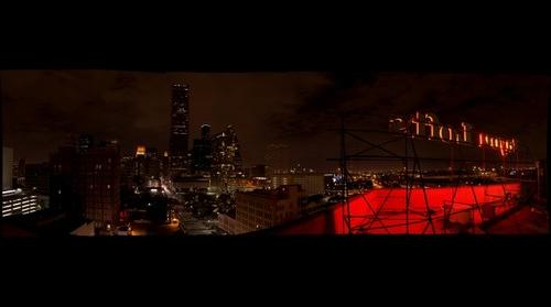 Downtown Houston from the Bayou Lofts Roof