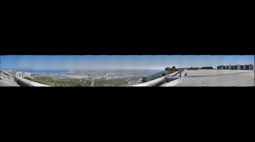 View on Haifa bay from the University of Haifa