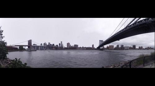 The East River from DUMBO in New York City after Hurricane Irene