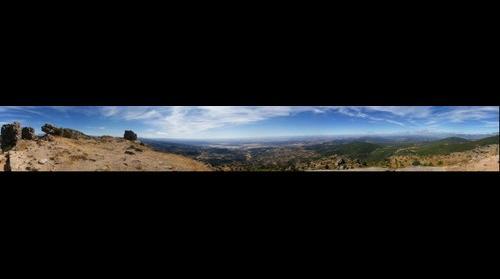 Panoramica del Valle del Tajo desde el castillo de Hinojosa de San Vicente