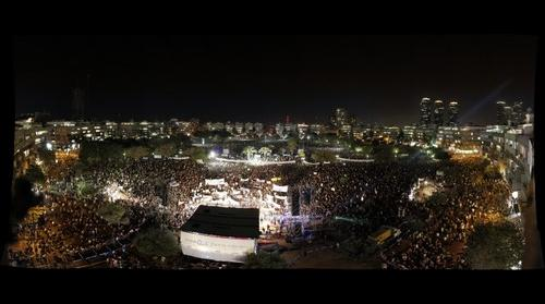 Historical protest in Tel Aviv