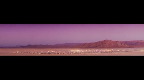 Burning Man 2011: Rites of Passage - Burn Night Dusk Panorama