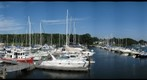 Friday afternoon at a Connecticut marina - getting ready for approaching tropical storm Hanna
