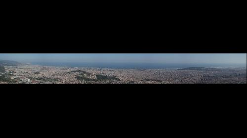 Panoramic Barcelona from Tibidabo