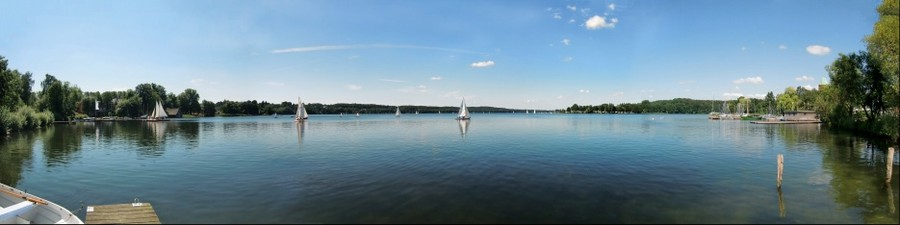 Inselstadt Ratzeburg - 180 Grad - Panorama über den Großen Ratzeburger See
