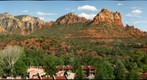 red rocks from mainstreet, sedona