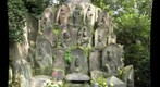 Japanese Red-bibbed Jizo statues