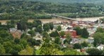 Downtown Owego flood of 2011 panorama