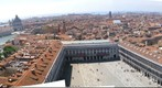 Looking West from the Campanile overlooking Piazza San Marco, Venice, Italy