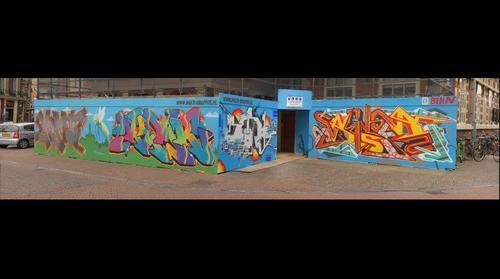 graffitti grote markt haarlem