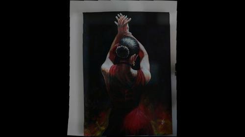 A. Bobadilla, En el tablado flamenco, Oleo sobre tela, 2010