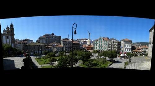 PLAZA DE LA HERRERIA en Pontevedra (Galicia-Espana)