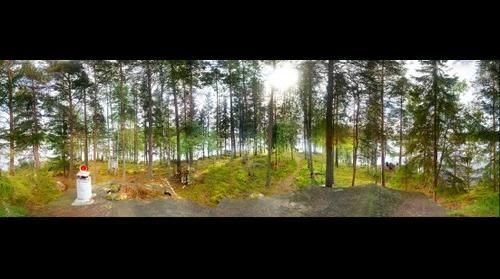 Nokia N9 panorama, Ghillie Island, Iitti, Finland