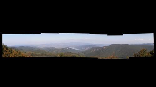 A Dunakanyar és a Börzsöny a Dobogó-kőről